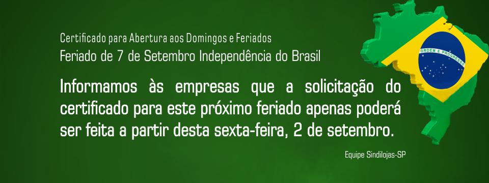 Feriado de 7 de Setembro: Independência do Brasil