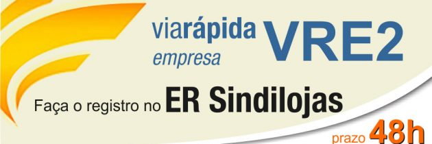 VRE2 pode ser registrado no ER Sindilojas